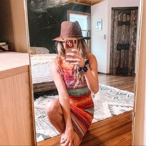 Lauren Ralph Lauren Stripe Linen Sweater Dress